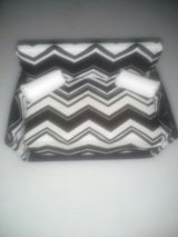 Blk/Wht Diagonal Barbie couch in Vacaville, California