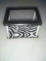 Blk/Wht Zebra table for Barbie in Vacaville, California