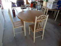 Solid Wood Top 41? Dinette Set W/Matching Chairs in Yucca Valley, California