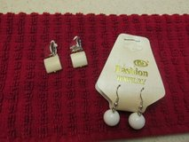 2 Pairs Earrings - One For Pierced - One w/Clip Backs in Kingwood, Texas