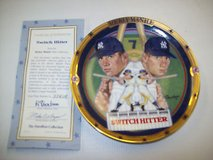 hamilton collection plate, switch hitter mickey mantel 1995 # 3361a in Colorado Springs, Colorado