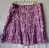TALBOTS NWT Women's Petite Large Purple Cotton Skirt in Joliet, Illinois