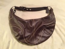 Authentic brown leather Coach bag in Chicago, Illinois
