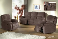 Oleron Recliner LivingroomSet - available in Grey color- Microfiber - monthly payments possible in Hohenfels, Germany