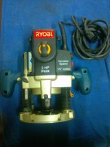 Ryobi 2HP plunge router with 1/2 inch collet.$69.99 in Fort Bliss, Texas