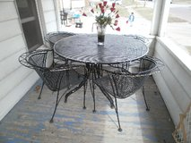 Wanted:   Wrought Iron Picnic Table & Four Chairs in Quad Cities, Iowa