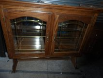 ALL AMERICAN AUCTIONS- BEAUTIFUL ALL WOOD CABINET WITH MIRROR. C3 in Huntington Beach, California