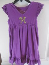 "Girls size 4/5 purple dress with letter ""M"" in Columbus, Georgia"