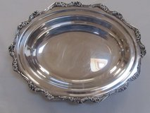 Reduced Again American Rose Webster Gallery Silverplated Tray in Sandwich, Illinois
